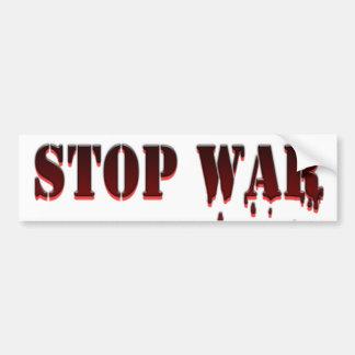 Stop War Car Bumper Sticker