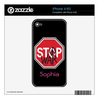 Stop War Decal For iPhone 4
