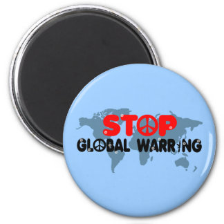 Stop War-Peace sign 2 Inch Round Magnet