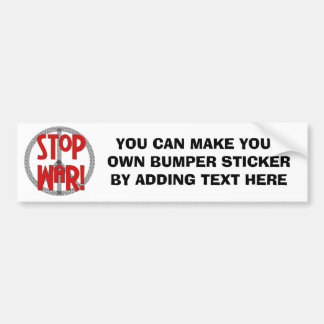 Stop War Peace Symbol T-shirts and Gifts Bumper Sticker