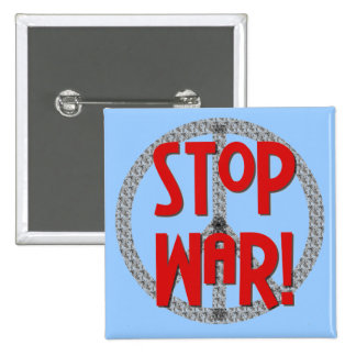 Stop War Peace Symbol T-shirts and Gifts Buttons