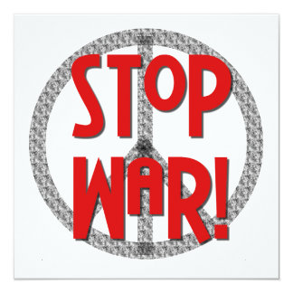 Stop War Peace Symbol T-shirts and Gifts Card