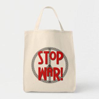 Stop War Peace Symbol T-shirts and Gifts Tote Bag