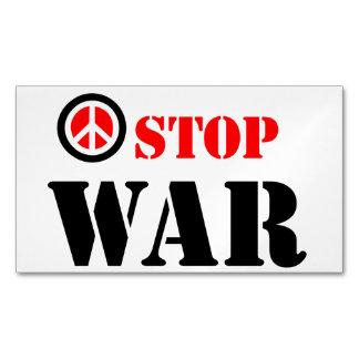 Stop war slogan business card magnet