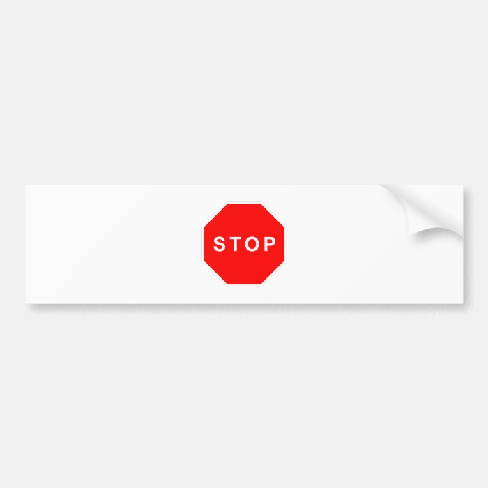 Stop Warning Achtung Products & Designs! Bumper Sticker