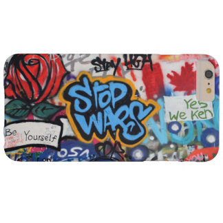 Stop Wars graffiti Barely There iPhone 6 Plus Case