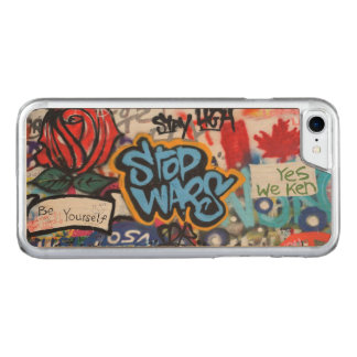 Stop Wars graffiti Carved iPhone 7 Case