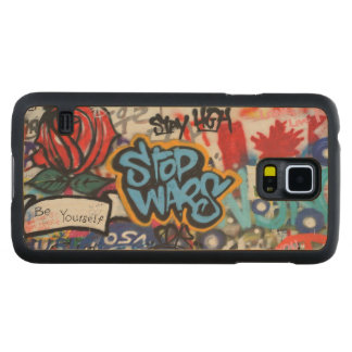 Stop Wars graffiti Carved® Maple Galaxy S5 Case