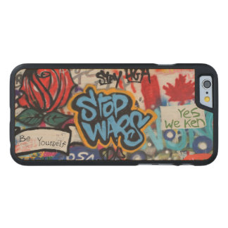 Stop Wars graffiti Carved Maple iPhone 6 Case