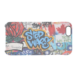 Stop Wars graffiti Clear iPhone 6/6S Case