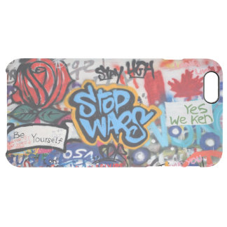 Stop Wars graffiti Clear iPhone 6 Plus Case
