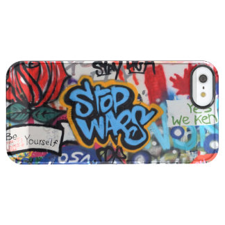 Stop Wars graffiti Clear iPhone SE/5/5s Case
