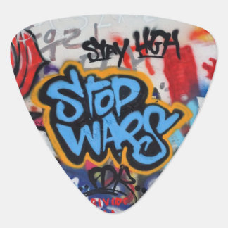 Stop Wars graffiti Guitar Pick