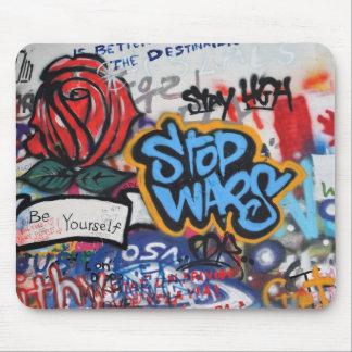Stop Wars graffiti Mouse Pad