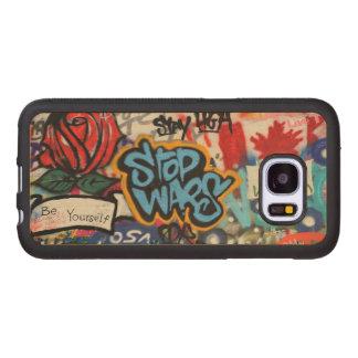 Stop Wars graffiti Wood Samsung Galaxy S7 Case