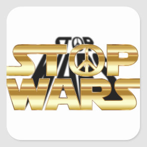 Stop Wars Square Sticker