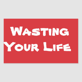 STOP Wasting Your Time Stop Sign Sticker