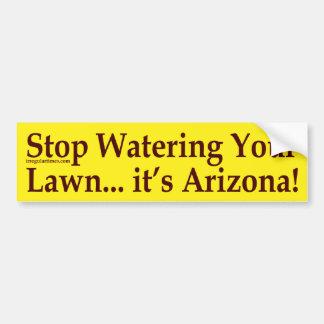 Stop Watering Your Lawn (Arizona bumper sticker) Bumper Sticker