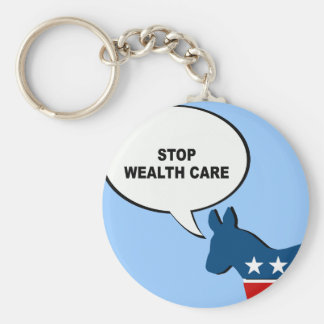 STOP WEALTH CARE KEY CHAINS