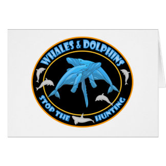 Stop Whale Hunting Card