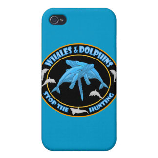 Stop Whale Hunting Cases For iPhone 4