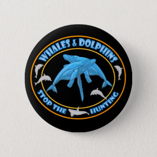 Stop Whale Hunting Pinback Button