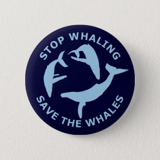 Stop Whaling, Save The Whales Pinback Button