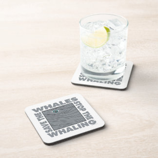 Stop Whaling, Save Whales Beverage Coaster