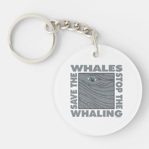 Stop Whaling, Save Whales Keychain
