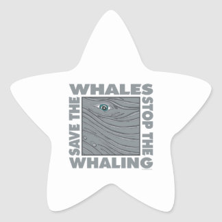 Stop Whaling, Save Whales Star Sticker
