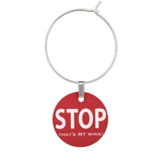 STOP Wine Charm