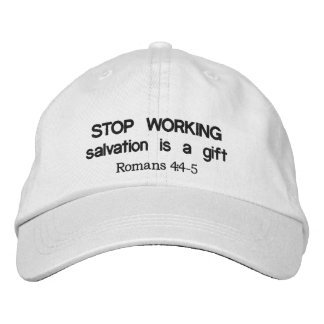 Stop Working Embroidered Baseball Hat