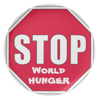 Stop! World Hunger Dinner Plates