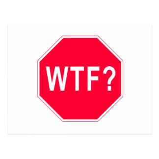 Stop! WTF? Postcard