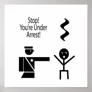 stop youre under arrest music humour 2 poster
