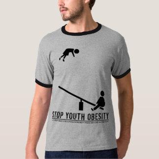 Stop Youth Obesity (crisp black print) Tee Shirts