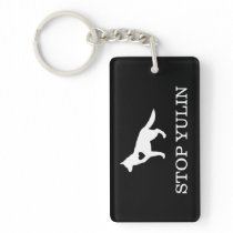 """STOP YULIN"" Animal Awareness Keychain"