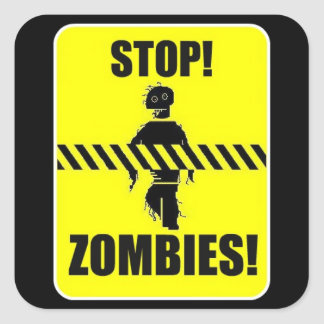 Stop Zombies sign Sticker