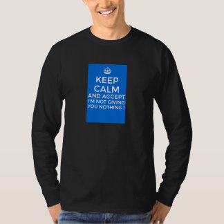 stopbegging blue tee shirt