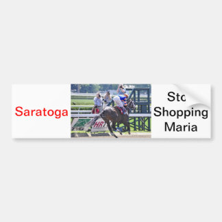 Stopchargingmaria victorious in her first race. bumper stickers