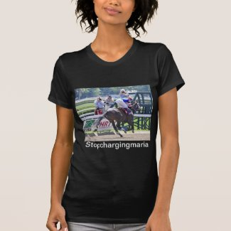 Stopchargingmaria victorious in her first race. T-Shirt