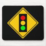 Stoplight Ahead Mousepads