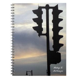 'Stoplight at Dusk' Notebook