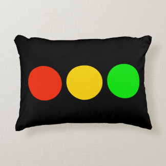 Stoplight Colors Accent Pillow