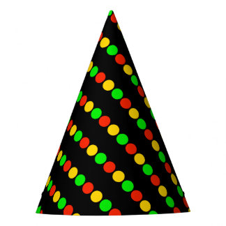 Stoplight Colors Party Hat