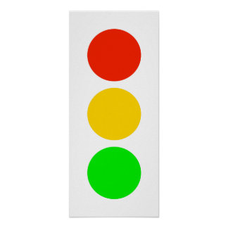 Stoplight Colors Poster