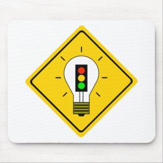 Stoplight Lightbulb Ahead Mouse Pad