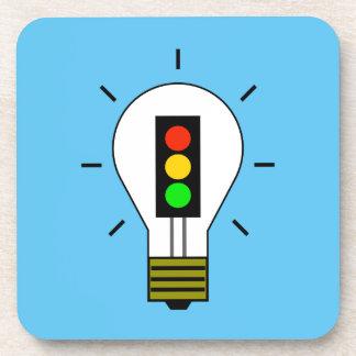 Stoplight Lightbulb Beverage Coaster
