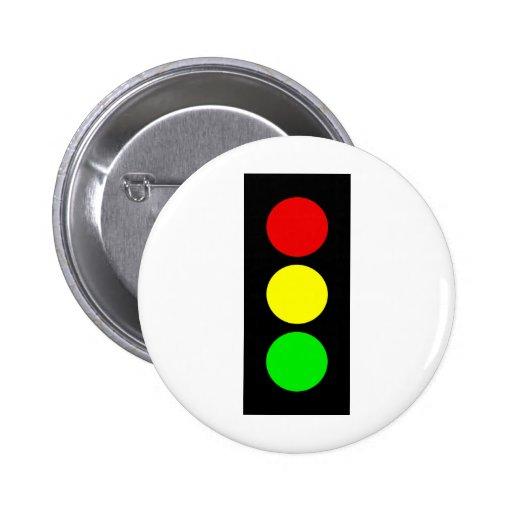 Stoplight Pinback Button
