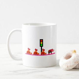 Stoplight with Heart Caravan Coffee Mug